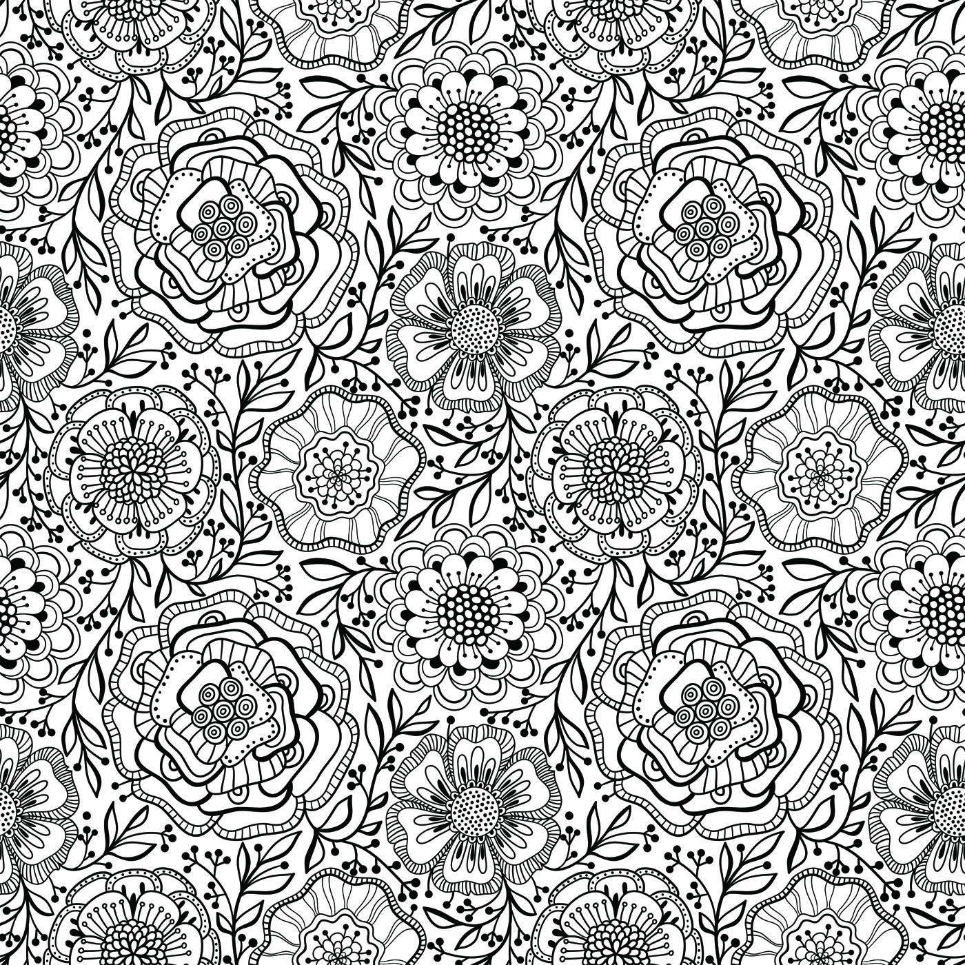 From Flower Coloring Book Vol. 1 | To Print | Pinterest | Basteln ...