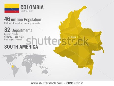 Colombia world map with a pixel diamond texture world geography colombia world map with a pixel diamond texture world geography gumiabroncs Choice Image