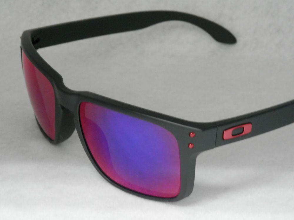 52d206061107f NEW OAKLEY HOLBROOK OO9102-36 MATTE BLACK W  RED IRIDIUM LENS (eBay Link)