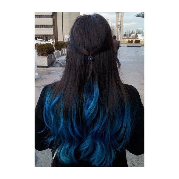 Blue Hair Highlights Vip Hairstyles Liked On Polyvore Featuring
