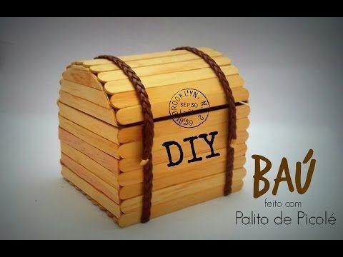 Diy Serie Palitos De Picole 1 Bau Chest Stick Popsicle
