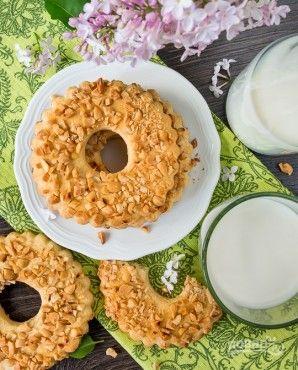 Песочные кольца с орехами   Рецепт   Кулинария, Еда, Еда торты