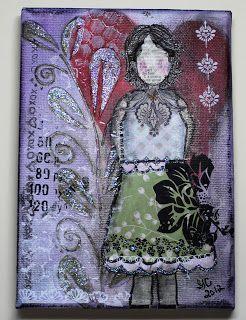 Girl Gone Stampin: Birth of a She Art Girl