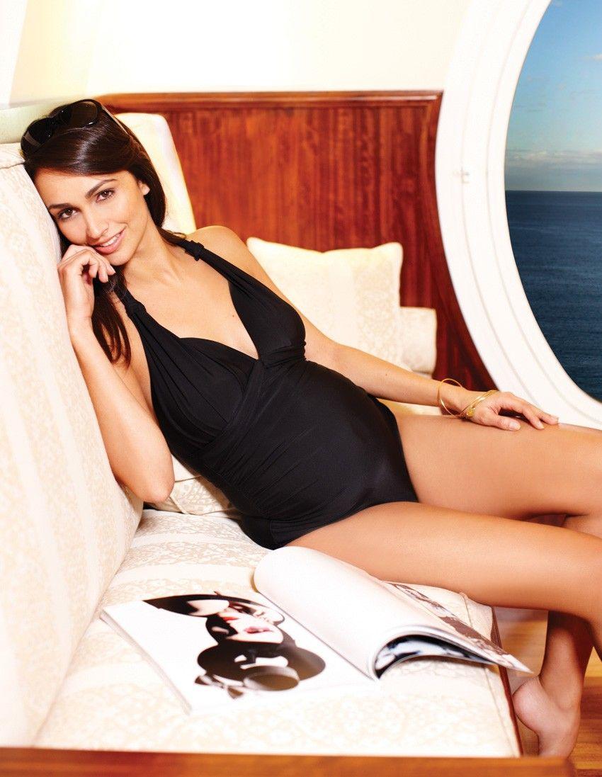 805931ec76 Black Halterneck Maternity Bathing Suit