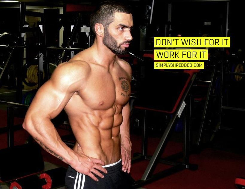Inspiration Male Body Muscle Fitness Dedication