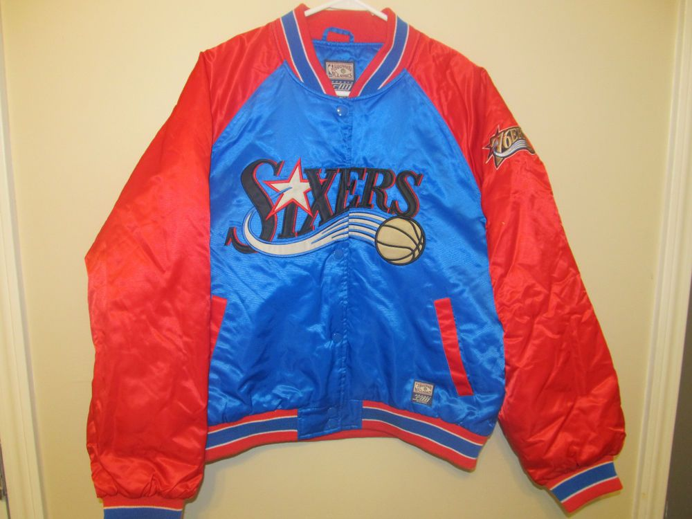 Philadelphia 76ers Hardwood Classics Retro Warm-up Jersey Sports Mem, Cards & Fan Shop Fan Apparel & Souvenirs Youth Small