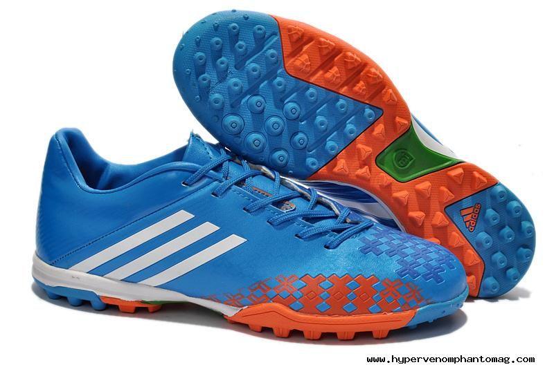 check out 712dc 9f4a1 Blue White Orange adidas predator Absolado LZ TRX TF Boots