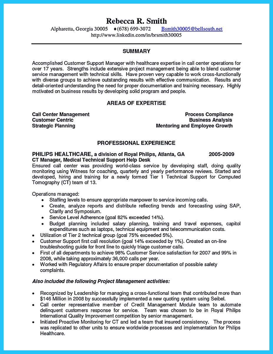 Call Center Manager Resume Nice Create Charming Call Center Supervisor Resume With Perfect