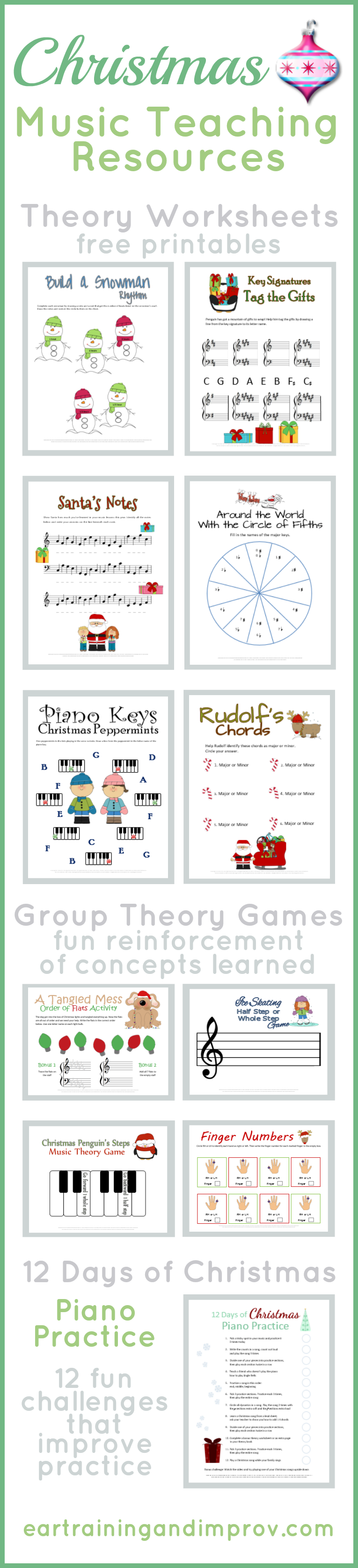 Christmas Music Worksheets paired with fun group game ideas dice – Music Fun Worksheets