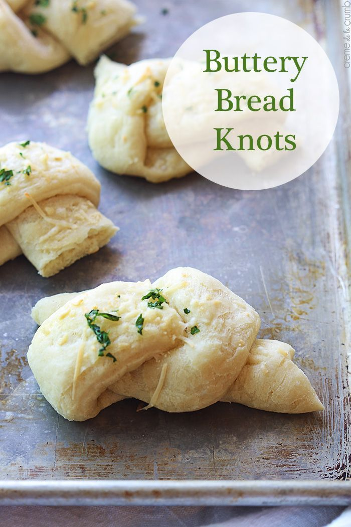 Delicious Buttery Bread Knots recipe on { lilluna.com }