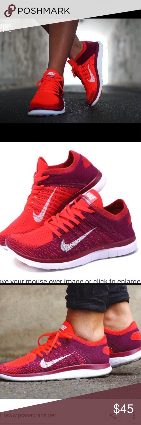 "f8b02f7fcd2e Nike Free Flyknit 4.0 ""Bright Crimson""❤ Nike Free Flyknit 4.0 ""Bright  Crimson"" Bright Crimson White Raspberry Red SKU  631050-616 Price   150  Nike Shoes ..."