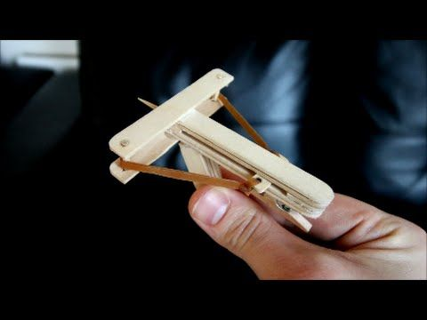 how to make a mini wooden crossbow that shoots toothpicks. Black Bedroom Furniture Sets. Home Design Ideas