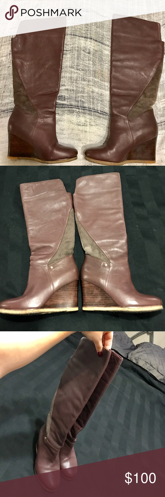 bb5c1858b941 Ugg Ravenna Leather Boots Size 7.5
