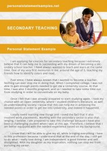 Get Secondaty Teaching Personal Statement Example Primary Education Examples Pgce Pgde
