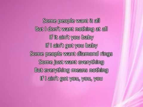 Alicia Keys If I Ain T Got You Lyrics In Video With Images