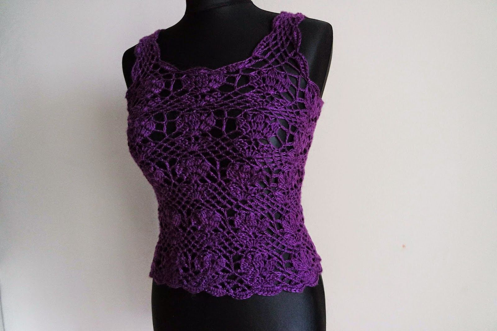 Free crochet patterns and video tutorials: how to crochet summer tulip top free pattern tutorial by marifu6a