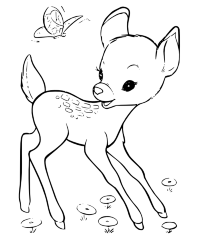 Cookie Cutter Fawn Rock Art Coloring Pages Embroidery