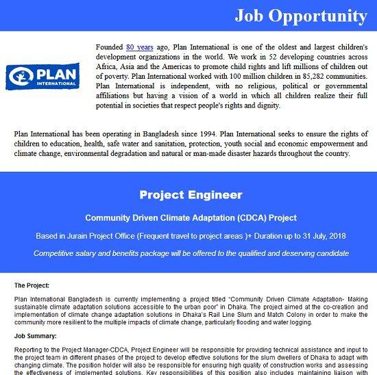 Plan International Bangladesh Job Circular  Plan Bangladesh