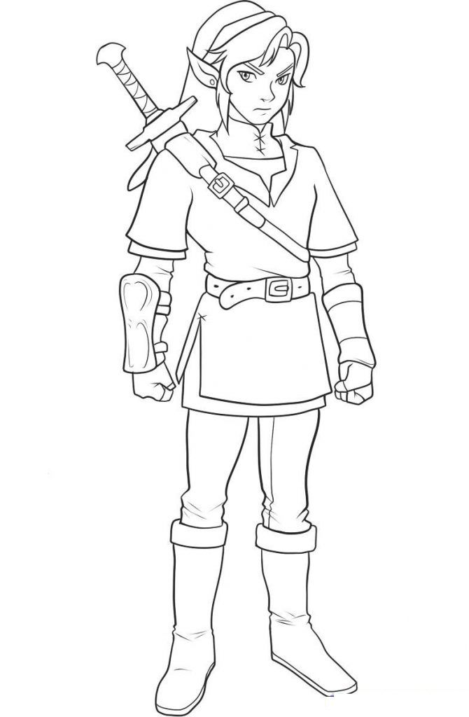 Free Printable Zelda Coloring Pages For Kids | Dibujos simples ...