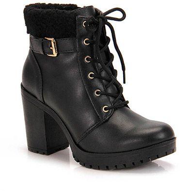 Lojas Calçados Femininos Bota Dakota Cano Curto Zíper Preta