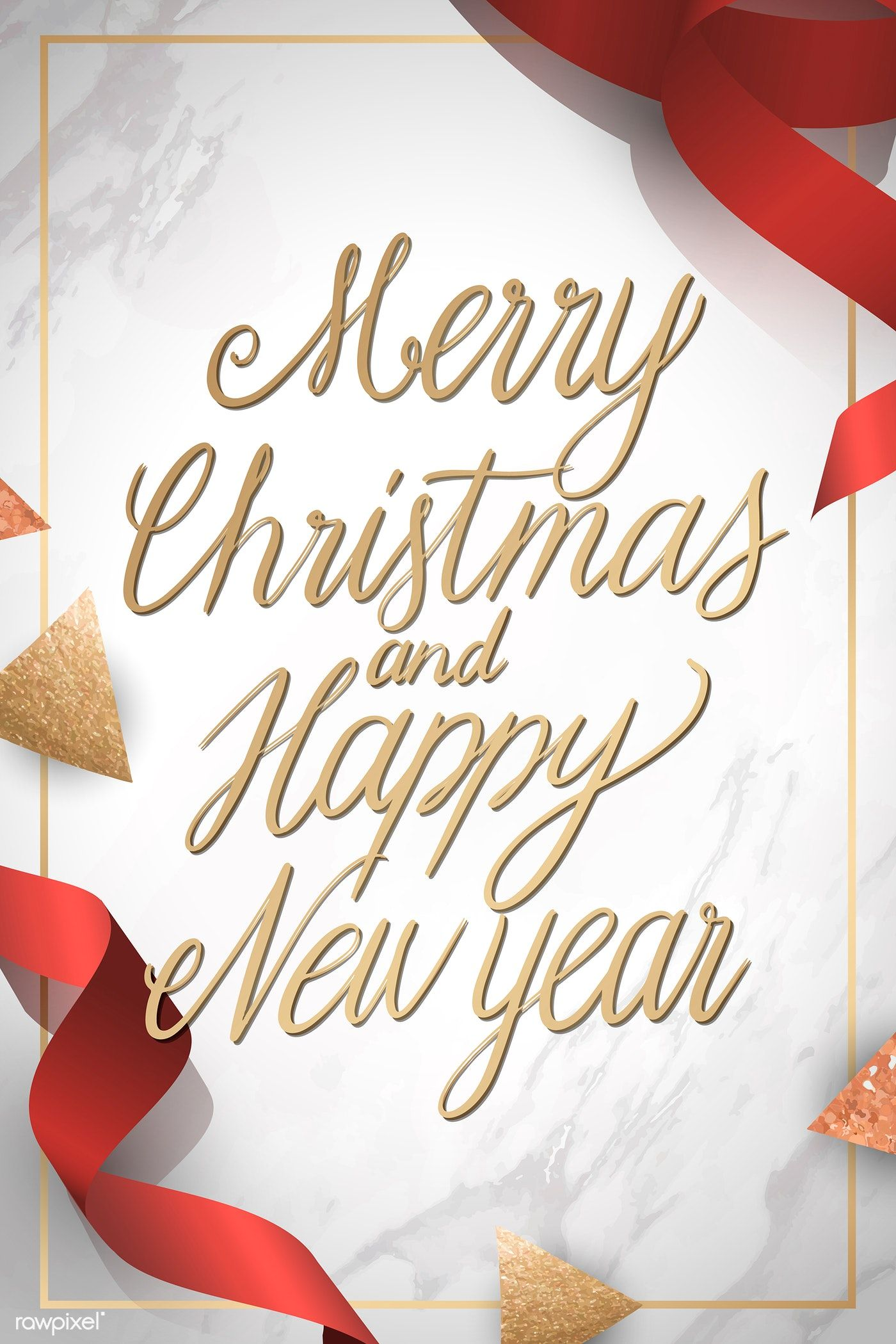Download Premium Vector Of Merry Christmas And Happy New Year Card Vector Merry Christmas And Happy New Year New Year Card Happy New Year Cards