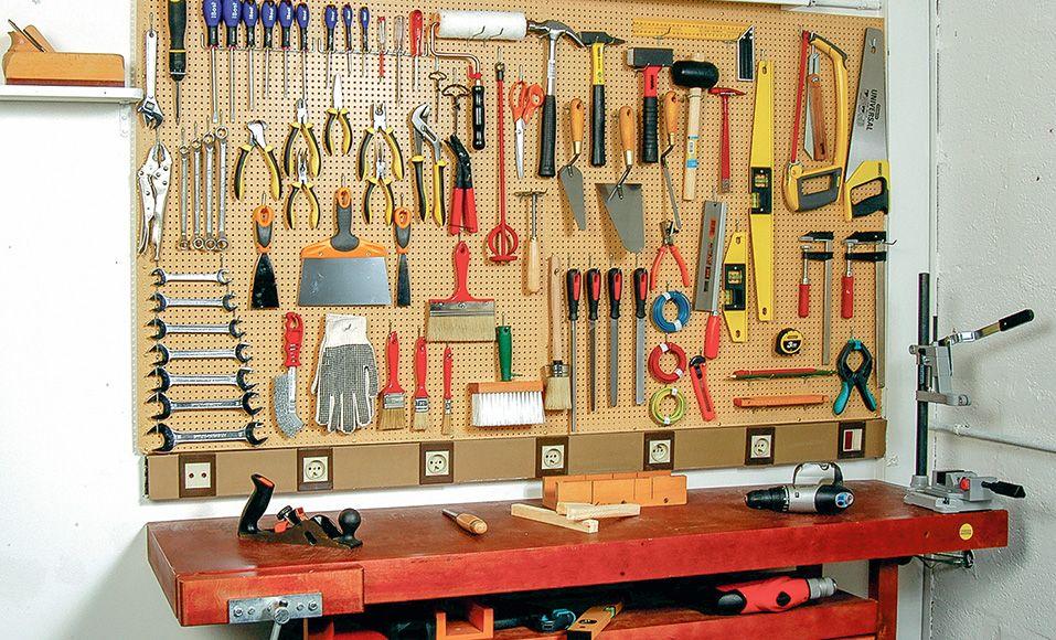 DIY : comment poser et organiser un panneau d'atelier | Organisation de l'atelier, Rangement ...