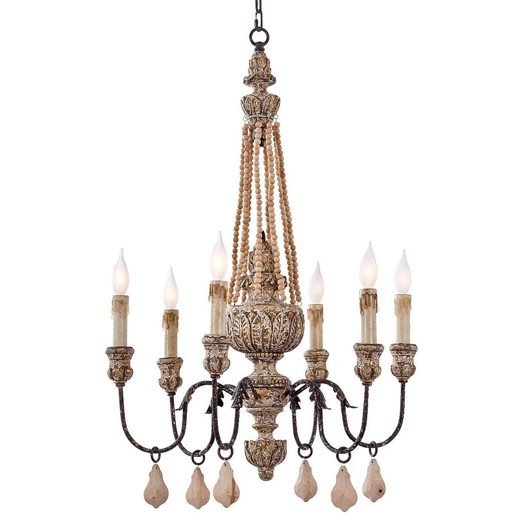 regina andrew lighting parisian wood bead chandelier layla grayce love this for kitchen chandelier - Wood Bead Chandelier