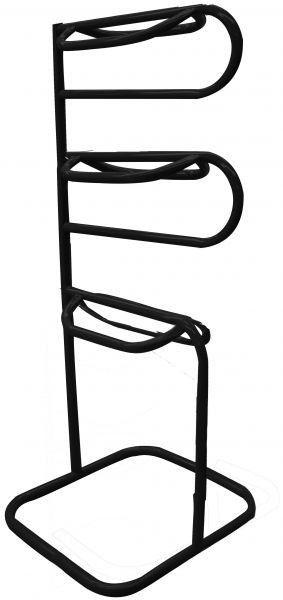 Three tier Western or English saddle rack. Has powder coating to give long lasting finish.