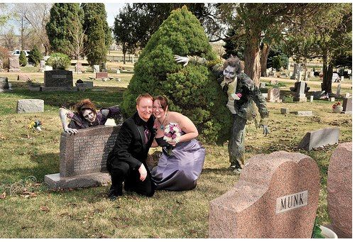 Bride, brains, and Boba Fett: A zombie, Star Wars wedding