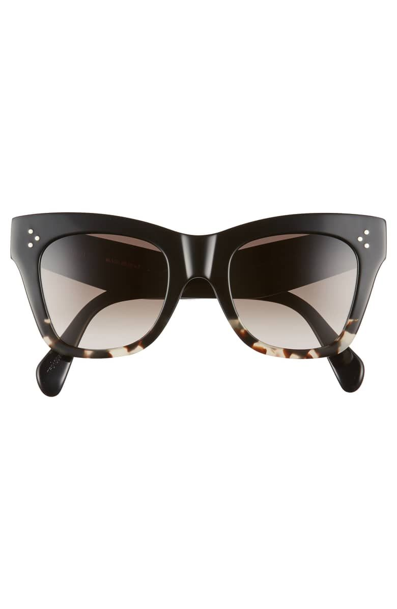 fd6eaaa6cc71 50mm Gradient Butterfly Sunglasses, Alternate, color, BLACK/ GREY HAVANA/  BROWN Céline style number: CL40004 Item #5555985