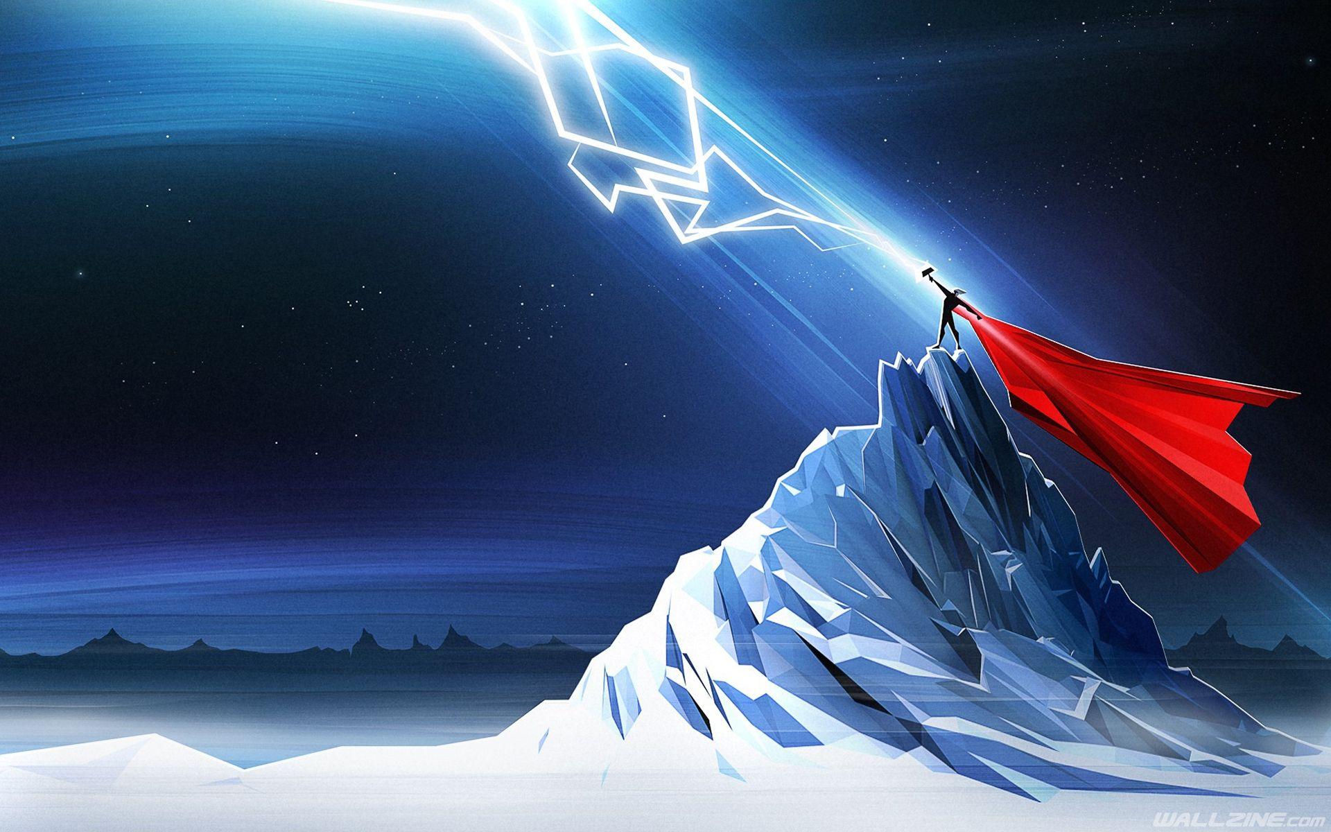 Thor Lightning Art Hd Desktop Wallpaper Wallzine Com Thor Wallpaper Marvel Wallpaper Hd Marvel Comics Wallpaper