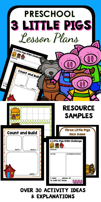 Three Little Pigs Theme Preschool Classroom Lesson Plans Preschool Teacher 101 Preschool Lesson Plans Preschool Lessons Three Little Pigs [ 3000 x 1500 Pixel ]