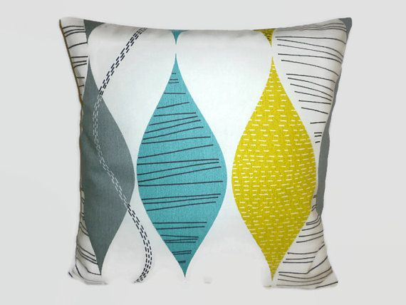 PAIR Teal Blue Pillow Cushion Covers 4 CHOICES Mix by WickedWalls
