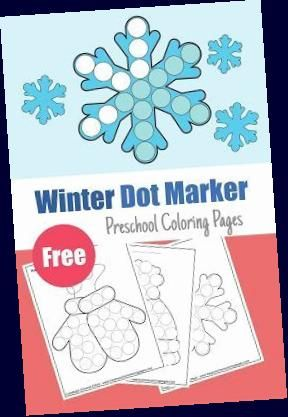 Winter Dot Marker free pages for kids : happy new year ...