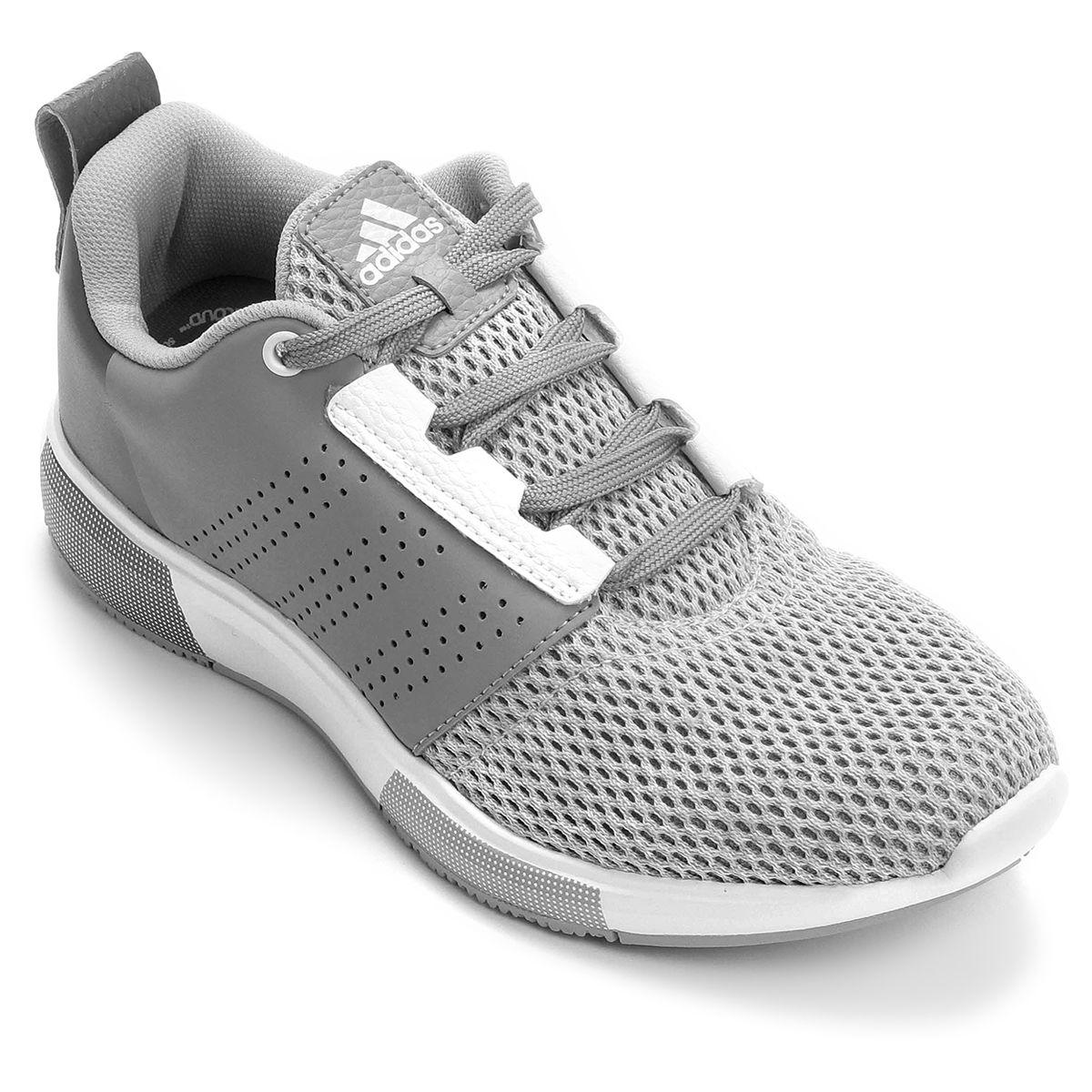 54890f1301 Tênis Adidas Madoru 2 Cinza e Branco