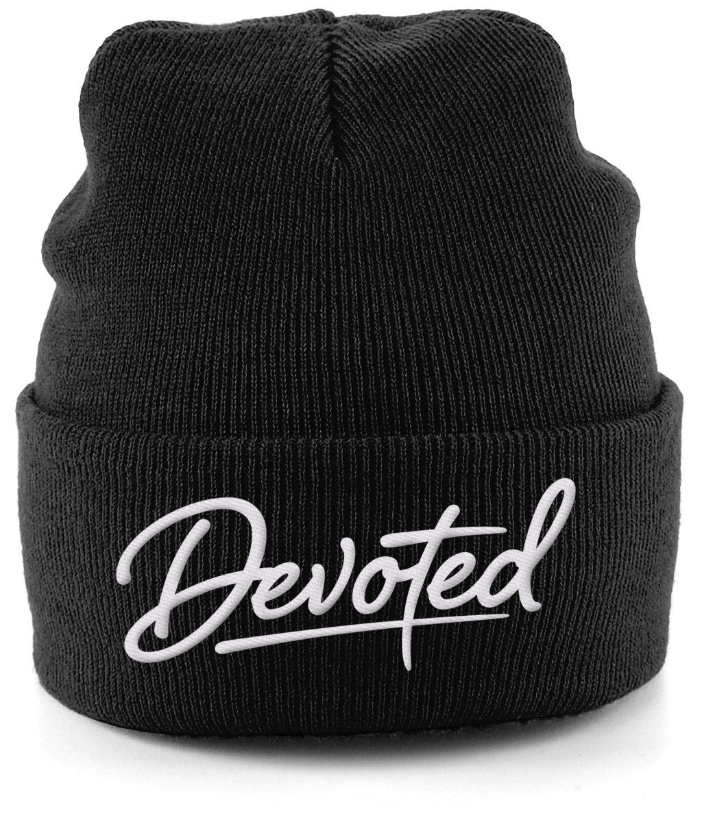 3f5a9ea7bc2 Be cool in a black beanie at Devoted this year 2018! Buy online only and