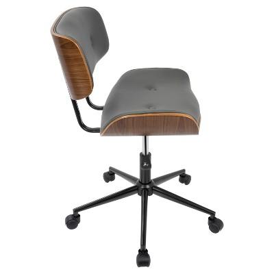 lombardi mid century modern office chair with swivel walnut and rh za pinterest com Mid Century Modern Desk Vintage Mid Century Modern Office Chair