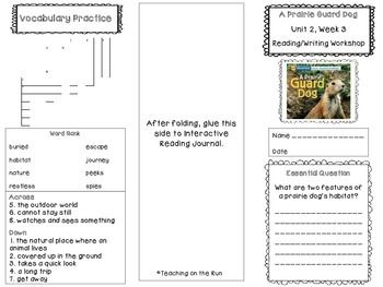 2nd Grade Reading Wonders Trifold - Unit 2, Week 3 | TPT
