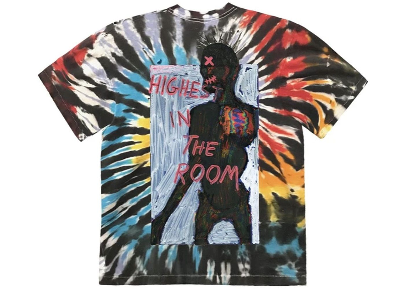 Travis Scott Highest In The Room Tee Tie Dye In 2021 Tie Dye T Shirts Mens Tshirts Dye T Shirt [ 1000 x 1400 Pixel ]