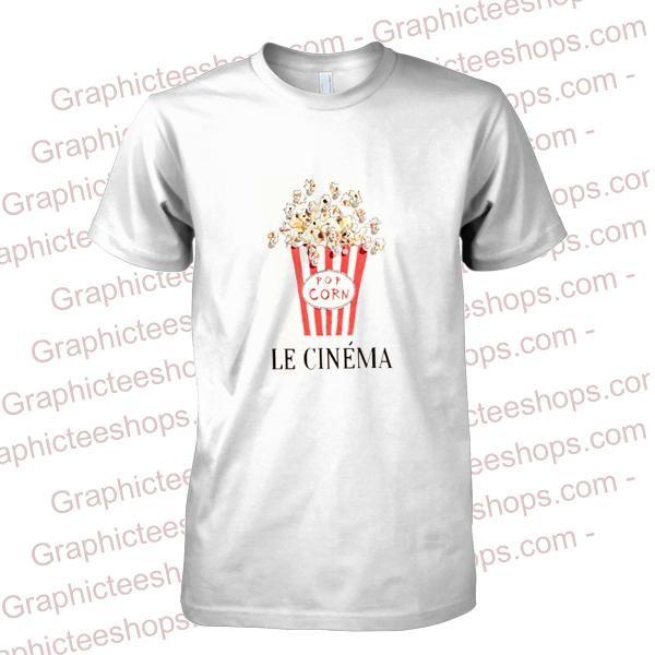 107664bf1 Popcorn Le Cinema T-Shirt | TOP | Valentine t shirts, Pulp fiction t ...