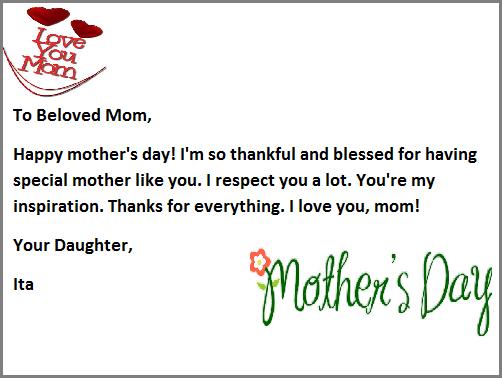 Contoh Greeting Card Untuk Hari Mother Day Contoh Kartu Ucapan B