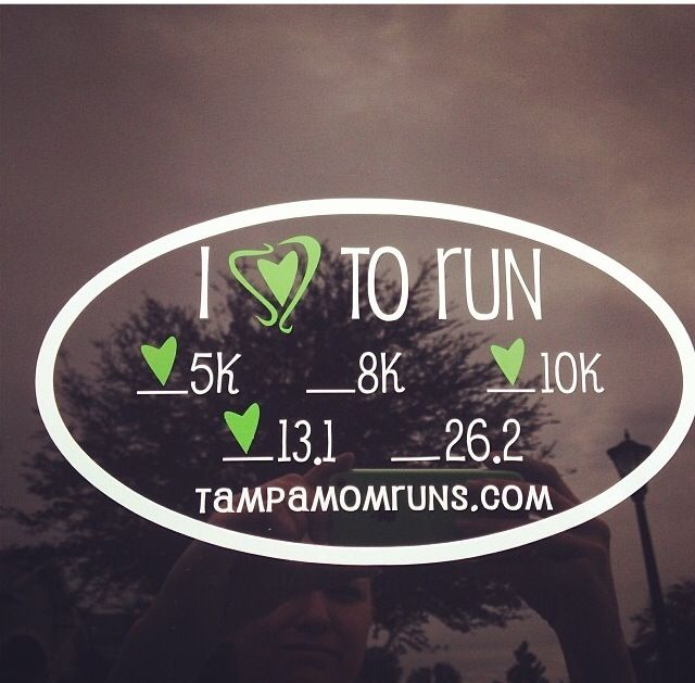 I love how the green turned out on this decal for tampamomruns.com   $8 for a customizable decal - you choose color of hearts and specify copy for bottom line (name, blog name, quote, etc....)