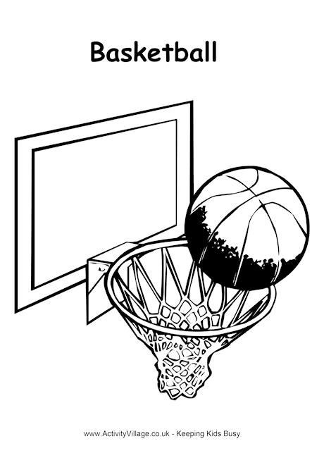 basketball colouring page perfect for boys and girls
