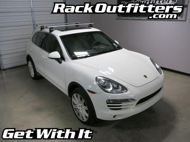 Porsche Cayenne Thule Rapid Traverse Silver Aeroblade Base Roof Rack 11 15 Roof Rack Porsche Thule