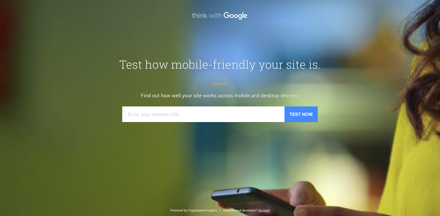 https://testmysite.thinkwithgoogle.com/  Test your website and mobile friendliness.
