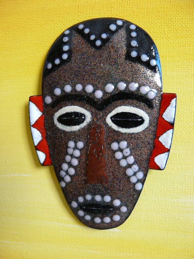 Masque africain emaux afrika pinterest rencontr - Masque africain a imprimer ...