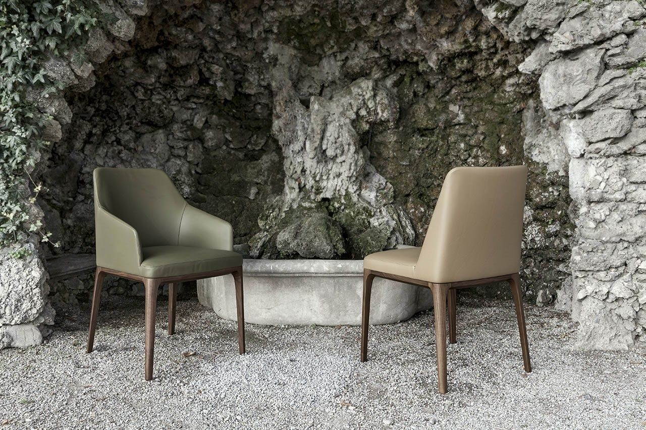 Alivar Sedie ~ Upholstered leather chair amanda by alivar design giuseppe bavuso