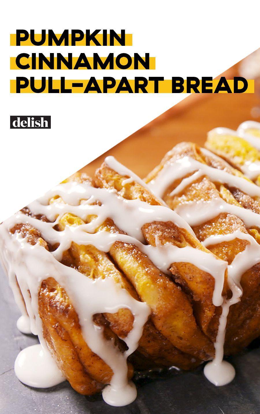 Pumpkin Cinnamon Pull-Apart Bread #tearandsharebread
