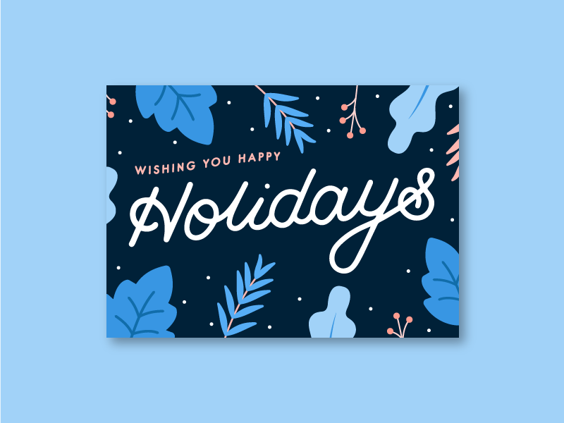 15 Designers Show Us Their Holiday Cards Holiday Design Card Christmas Graphic Design Christmas Card Design