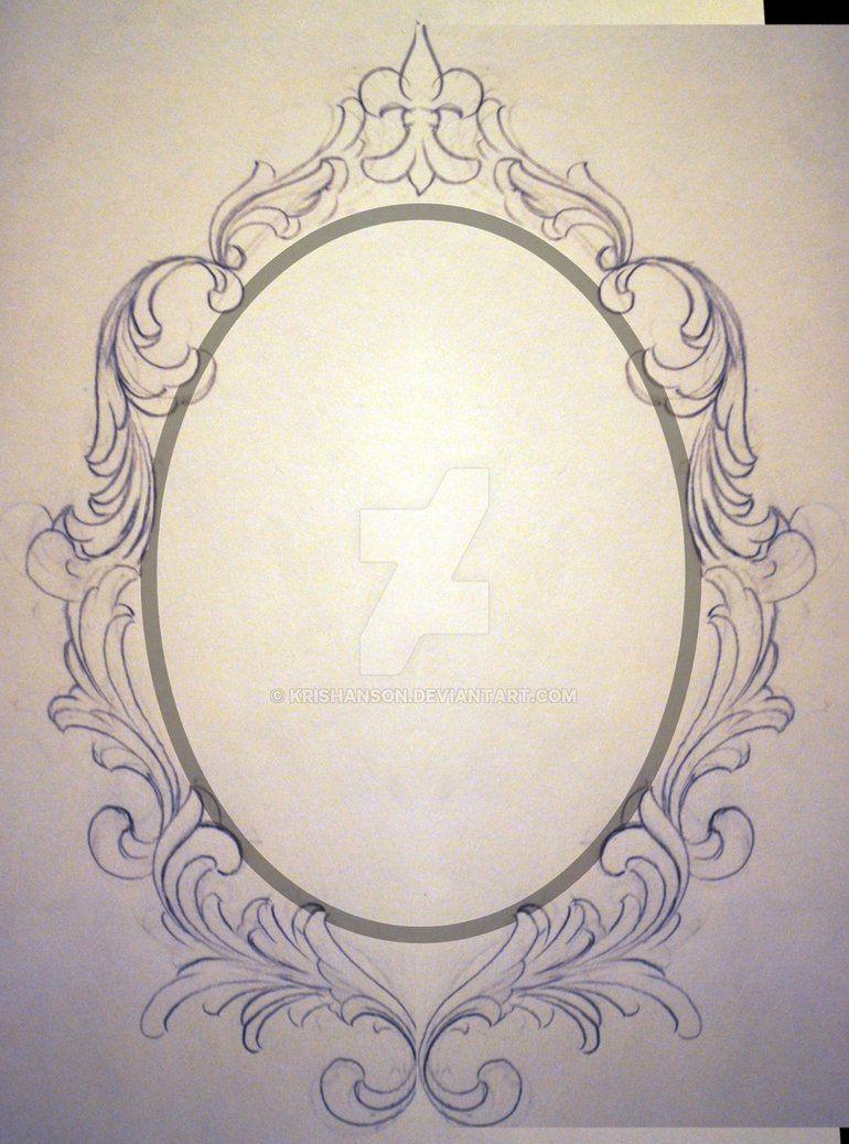 Filigree Frame Request Unfinished | Framed tattoo, Mirror ...